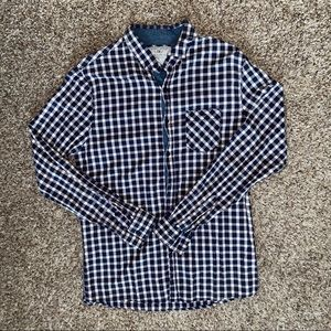 Vintage checkered unisex long sleeve flannel shirt